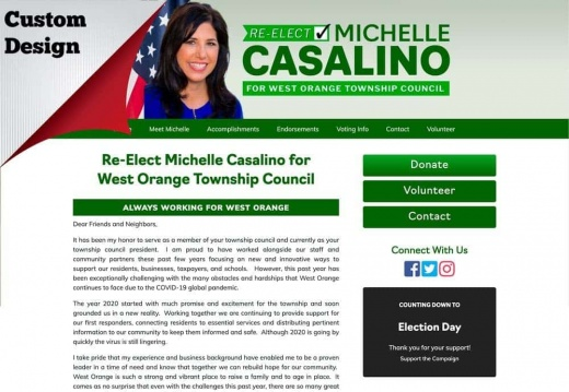 Re-Elect Michelle Casalino for West Orange Township Council