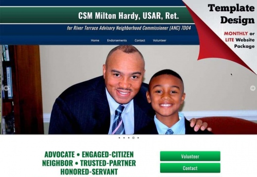 Milton Hardy for River Terrace Advisory Neighborhood Commissioner