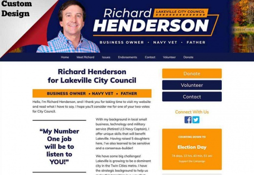 Richard Henderson for Lakeville City Council