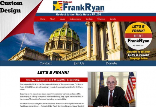 Reelect Retired Colonel Frank Ryan for Pennsylvania State Representative - 101 District