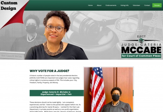 Judge Cateria McCabe for Court of Common Pleas