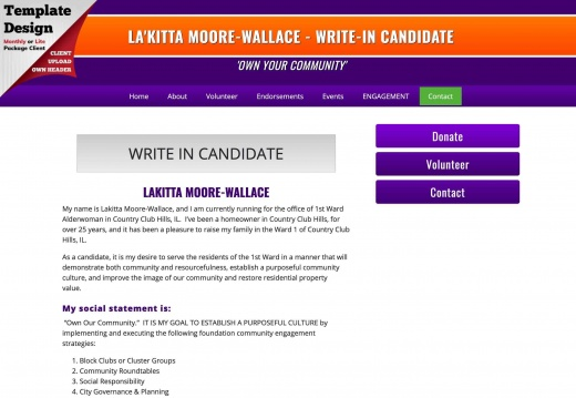 Lakitta Moore-Wallace for Alderwoman