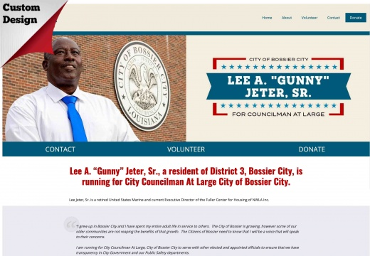 Lee Jeter, Sr for City Councilman At Large City of Bossier City