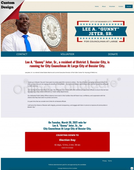 Lee Jeter, Sr for City Councilman At Large City of Bossier City.jpg