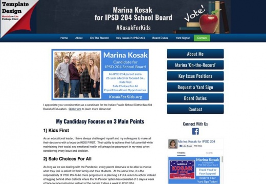 Marina Kosak  for IPSD 204 School Board