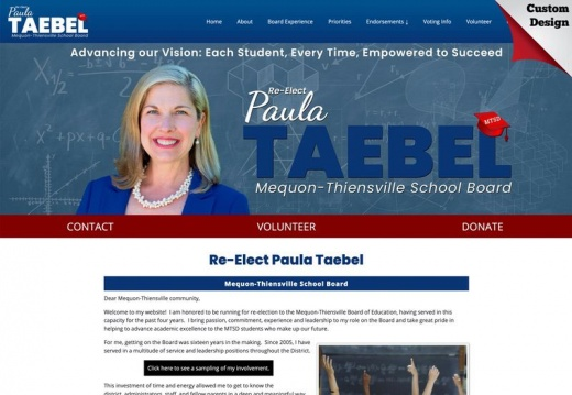 Re-Elect Paula Taebel for Mequon-Thiensville School Board