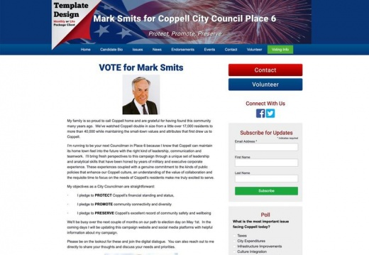 Mark Smits for Coppell City Council Place 6