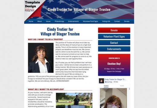 Cindy Trotier for Village of Steger Trustee