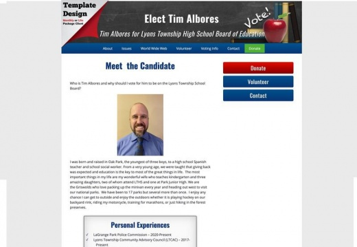Tim Albores for Lyons Township High School Board of Education