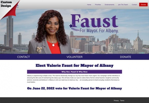 Valerie Faust for Mayor of Albany