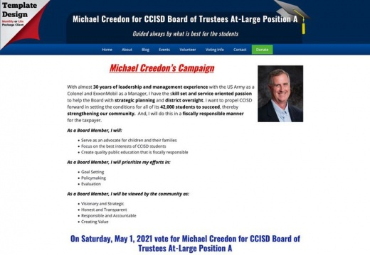 Michael Creedon for CCISD Board of Trustees At-Large Position A