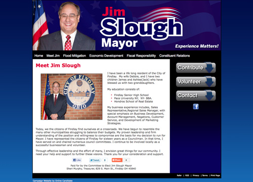 Jim Slough for Mayor Election Website