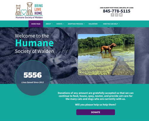 Humane Society of Walden | Campaign Website Design Examples