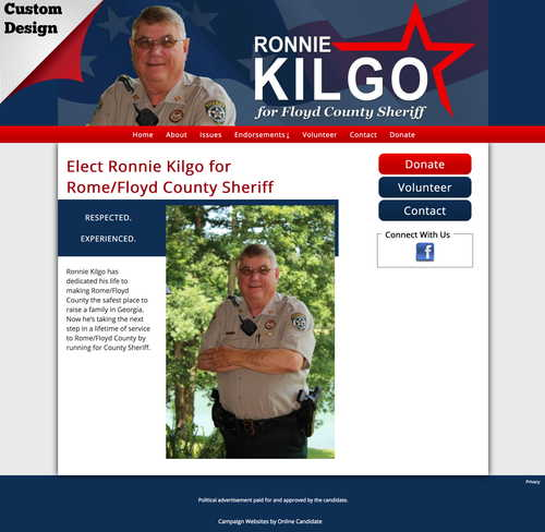 Ronnie Kilgo for Rome:Floyd County Sheriff.jpg