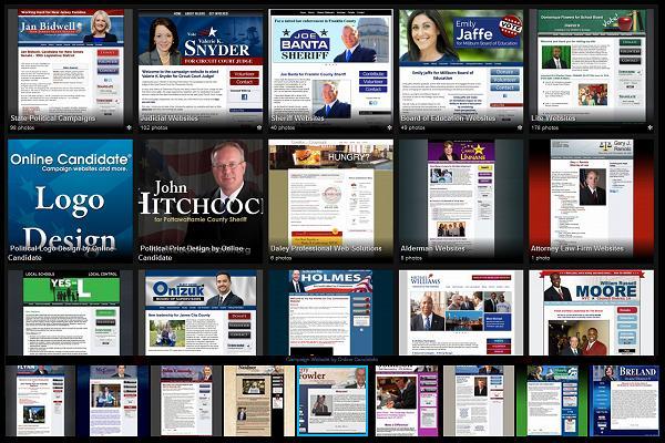 Sample Campaign Website Designs