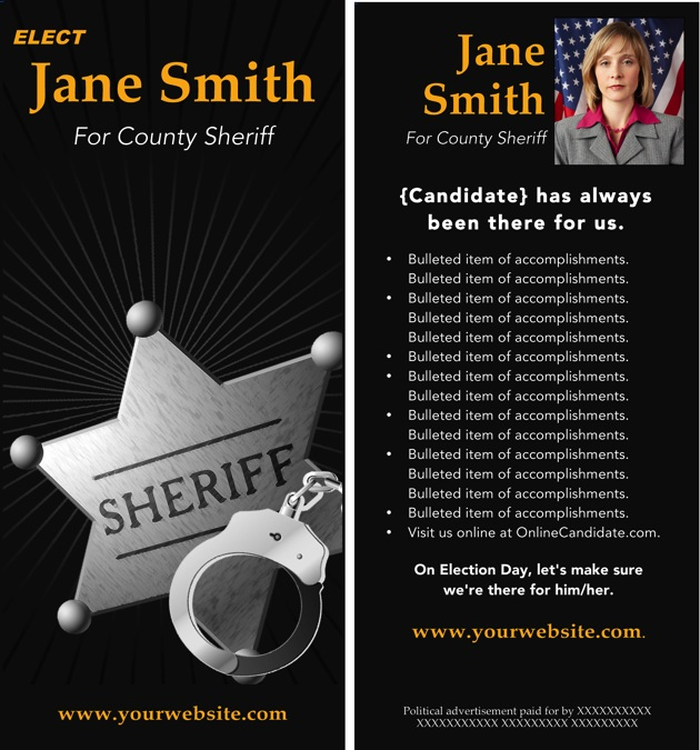 Sheriff Brochure Template - Black and Gold