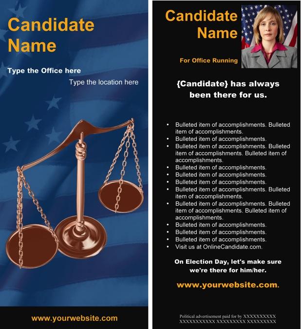 Blue Judicial Scale Brochure Template