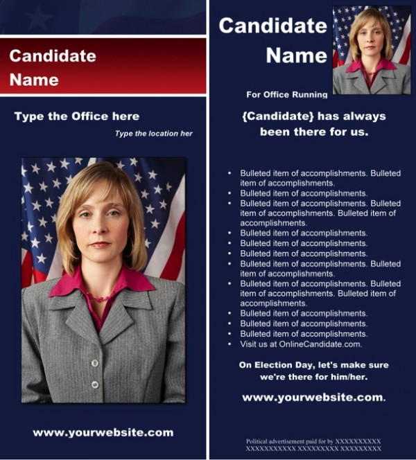 New political brochure templates available from online for Campaign literature templates