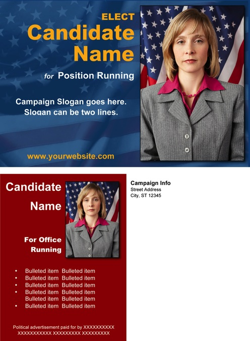 Candidate Flyer Linemartinamarkovaco - Political brochure templates