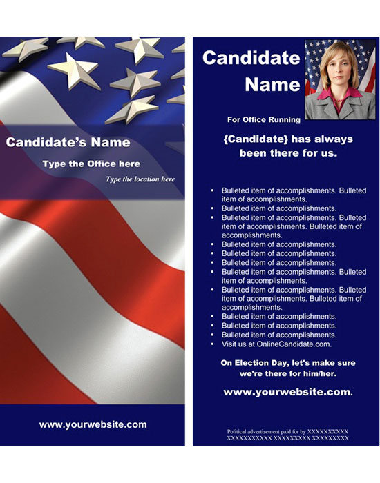 New Political Print And Web Templates Released - Political campaign brochure template