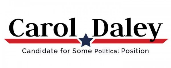 Political Logo Template – Red Angled Stripe and Blue Star