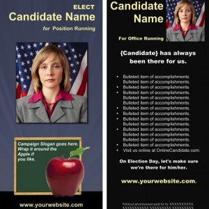 School Board Campaign Rack Card - Slate Blue and Black